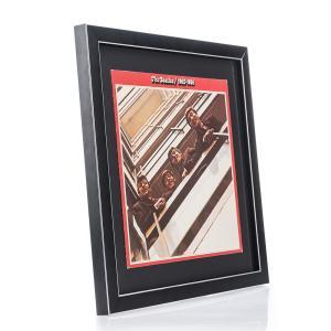 Holzrahmen Moulins für Vinyl-Schallplatten mit Cover