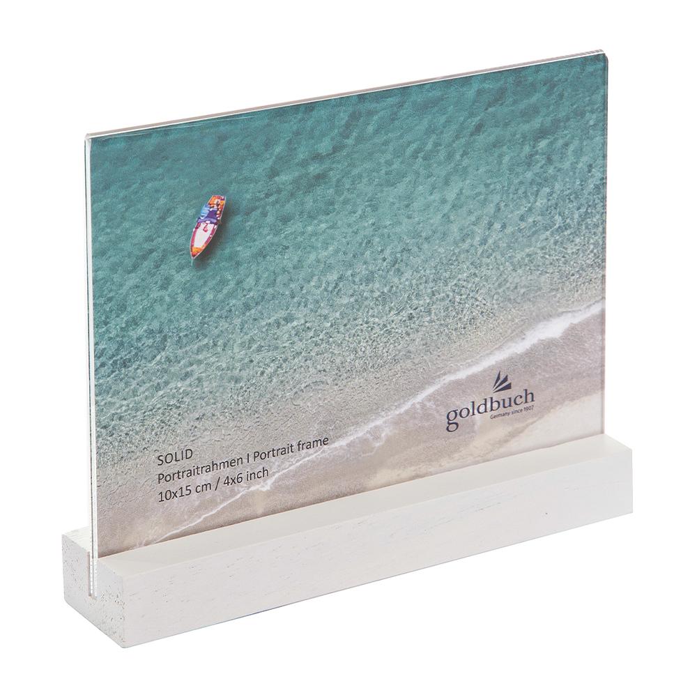 Einfacher Bildhalter zum Aufstellen mit Acrylglas