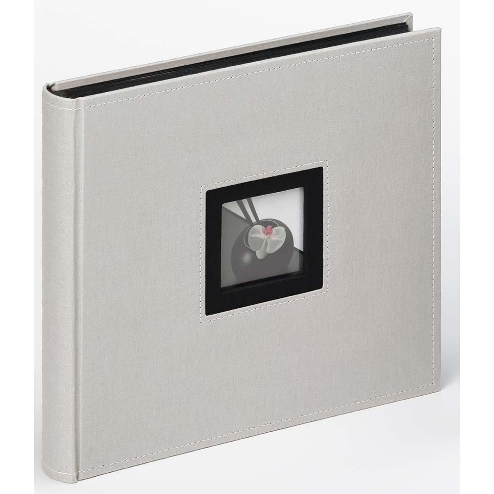 Graues Fotoalbum mit Buchbindung