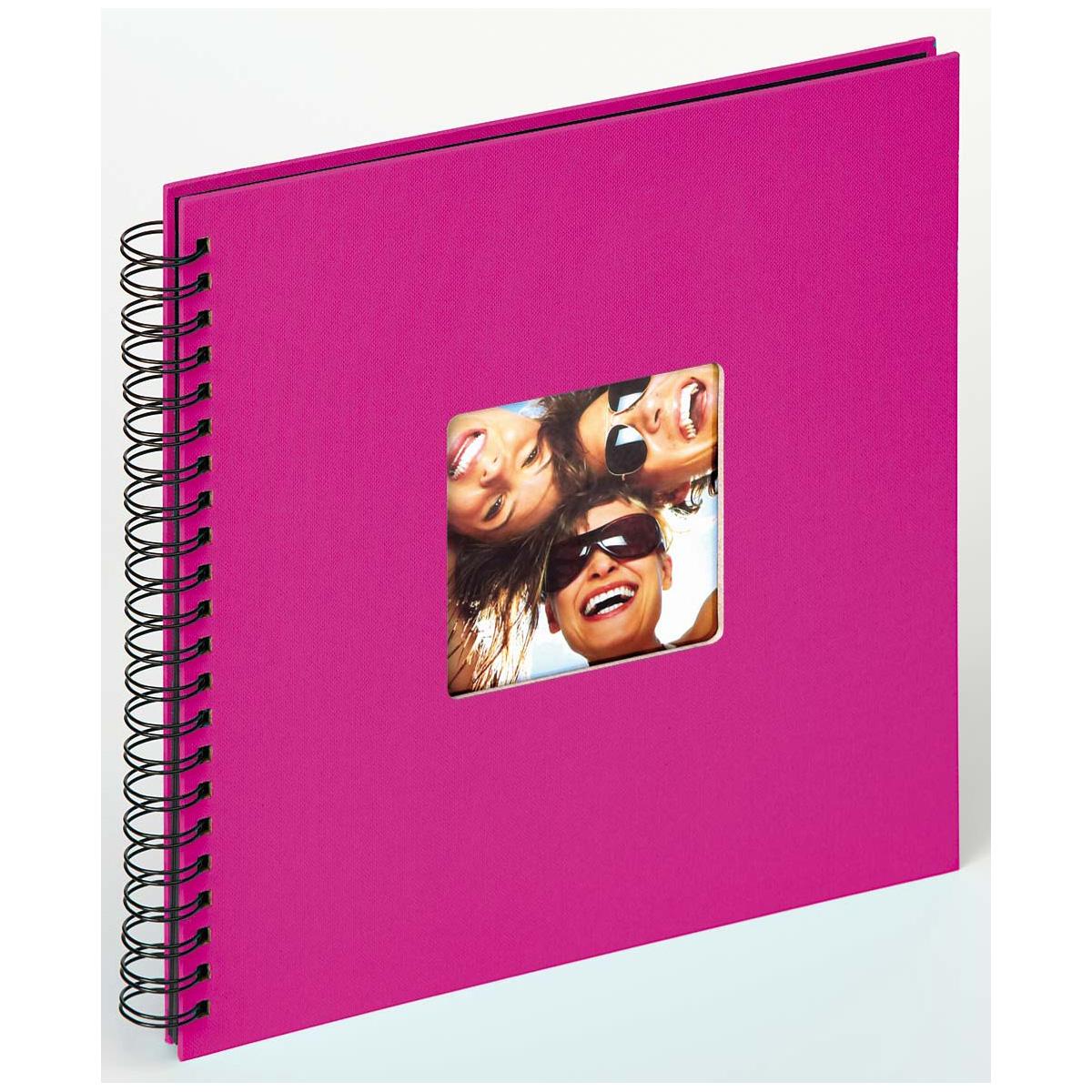 Pinkes Fotoalbum mit Spiralbindung