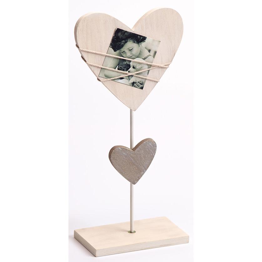 Herzförmiger Bildhalter für Minibilder mit Standfuß