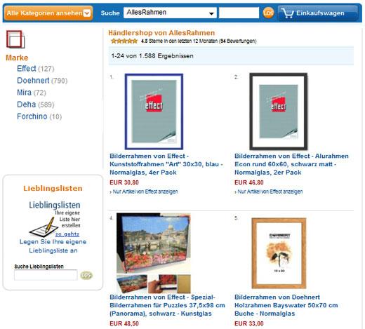 Amazon-Shop von AllesRahmen.de