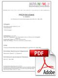 Certificato di verifica B1 per cornici resistenti al fuoco