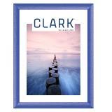 Variante Blau, pulverbeschichtet von Alu-Bilderrahmen Serie 404 - Zuschnitt