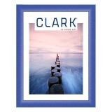 Variante Blau, pulverbeschichtet von Alu-Bilderrahmen Serie 411 - Zuschnitt