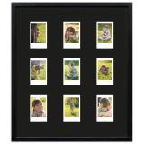 Variante Schwarz, gemasert von Bilderrahmen für 9 Sofortbilder - Typ Instax Mini