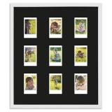 Thumbnail von Bilderrahmen für 9 Sofortbilder - Typ Instax Mini Weiß, gemasert