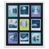 Thumbnail von Bilderrahmen für 9 Sofortbilder - Typ Polaroid 600 Weiß, gemasert