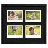 Variante Schwarz, gemasert von Bilderrahmen für 4 Sofortbilder - Typ Instax Wide