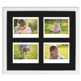 Thumbnail von Bilderrahmen für 4 Sofortbilder - Typ Instax Wide Weiß, gemasert