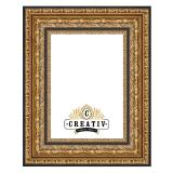 Variante gold-schwarz von Barock Holzbilderrahmen Carrara Maßanfertigung