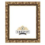 Variante gold-schwarz von Barock Holzbilderrahmen Novara Maßanfertigung
