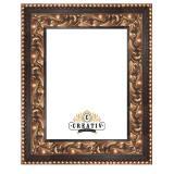 Variante schwarz von Barock Holzbilderrahmen Marsala Maßanfertigung