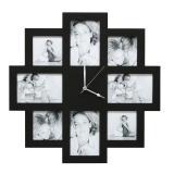 Variante Schwarz von 8er Wandgalerie mit Uhr
