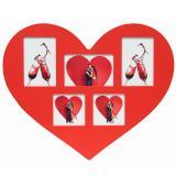 Variante Rot von 5er Herz-Galerierahmen Lessines