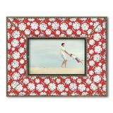 Thumbnail von Dekolino White Blossom on Red