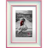 Variante weiß-rosa von Kunststoff-Bilderrahmen Colorado