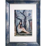 Variante blau von Holz-Bilderrahmen Aimee