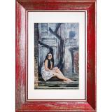 Variante rot von Holz-Bilderrahmen Aimee