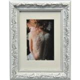 Thumbnail von Holz-Bilderrahmen Chic Baroque mit Passepartout Weiß