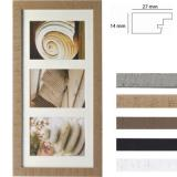Thumbnail von Galerie-Bilderrahmen Driftwood für 3 Bilder