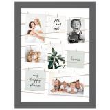 Variante Grau von Fotogalerie mit Leine für 20 Bilder