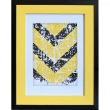 Variante Schwarz matt - Gelb von Fotorahmen Natalia