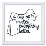 Thumbnail von Bilderrahmen mit Spruch - Cup Of Tea Makes Everything Better