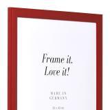 Variante rot hochglanz von Holzrahmen Paris