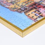 Variante altgold von Kunststoff-Puzzlerahmen - Sonderformat bis max. 100x100 cm