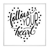 Thumbnail von Bilderrahmen mit Spruch - Follow Your Heart