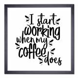 Thumbnail von Bilderrahmen mit Spruch - I Start Working When My Coffee Does