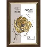 Variante Dunkelbraun-Gold von Holzrahmen Ascot