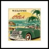 "Thumbnail von Gerahmte Kunst ""Welcome to Cuba"" mit Alurahmen C2"