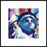 "Thumbnail von Gerahmtes Bild ""Statue of Liberty"" mit Alurahmen C2"