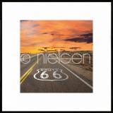"""Thumbnail von Gerahmte Kunst """"Route 66"""" mit Alurahmen C2"""