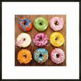 "Thumbnail von Gerahmtes Bild ""Donuts"" mit Alurahmen C2"