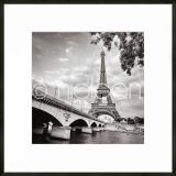 "Thumbnail von Gerahmte Kunst ""Paris black and white"" mit Alurahmen C2"