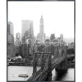 "Thumbnail von Gerahmte Kunst ""Brooklyn Bridge"" mit Alurahmen Alpha"