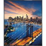 "Thumbnail von Gerahmtes Bild ""New York City Sunset"" mit Alurahmen Alpha"