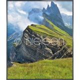 """Thumbnail von Gerahmte Kunst """"Mountain Range"""" mit Alurahmen Alpha"""