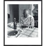 """Thumbnail von Gerahmtes Bild """"Les pains de Picasso 1985"""" mit Holzrahmen Quadrum"""