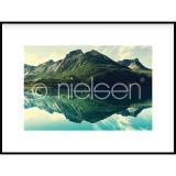 """Thumbnail von Gerahmtes Bild """"Mountain Lake"""" mit Alurahmen C2"""