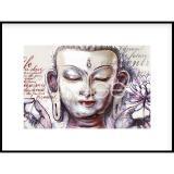"Thumbnail von Gerahmtes Bild ""Buddha Pearcing"" mit Alurahmen C2"