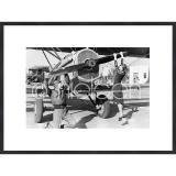 "Thumbnail von Gerahmte Kunst ""Historic plane II"" mit Holzrahmen Quadrum"