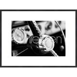 """Thumbnail von Gerahmtes Bild """"Interior of Classic Car"""" mit Holzrahmen Quadrum"""