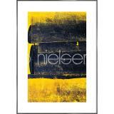 """Thumbnail von Gerahmte Kunst """"Abstract Yellow"""" mit Alurahmen Alpha"""