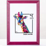 Variante Pink von Holz-Bilderrahmen Rainbow Maßanfertigung
