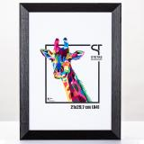 Variante Schwarz von Holz-Bilderrahmen Rainbow Maßanfertigung