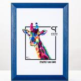 Variante Blau von Holz-Bilderrahmen Rainbow